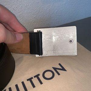 Louis Vuitton Accessories - Authentic Louis Vuitton silver belt 34